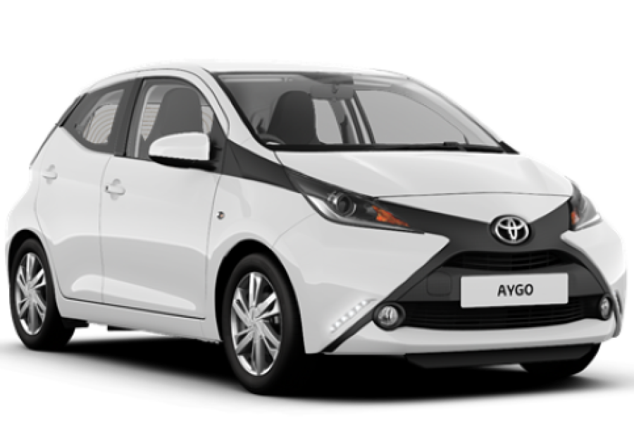 Toyota Aygo for hire from Senior Car & Van Hire