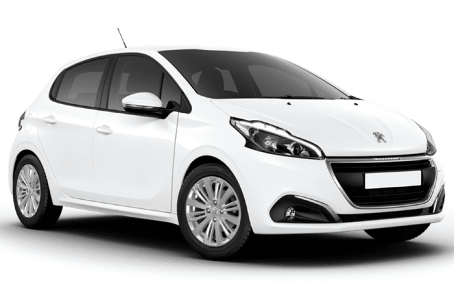 Peugeot 208 for hire from Senior Car & Van Hire