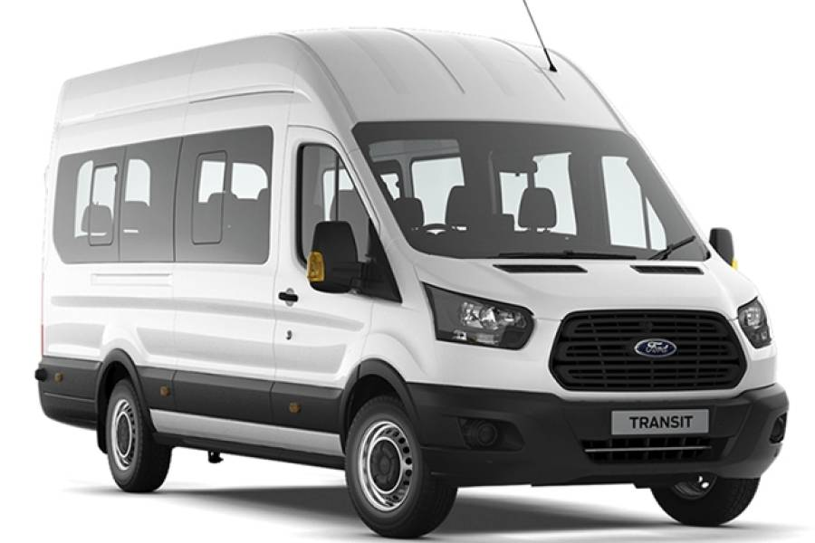 Ford Transit 17 Seat Minibus for hire from Senior Car & Van Hire