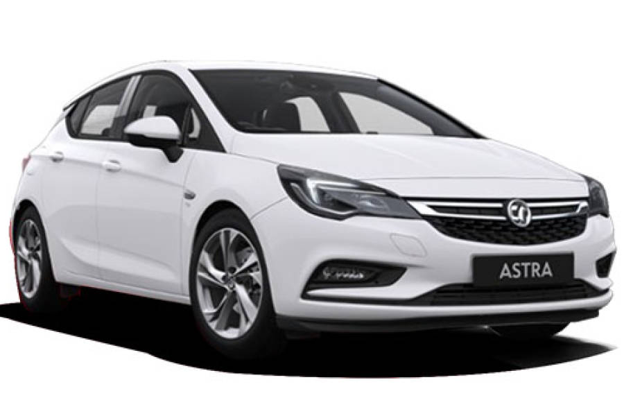 Vauxhall Astra for hire from Senior Car & Van Hire